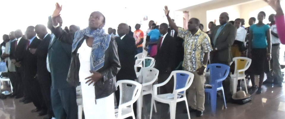 During a Worship Service
